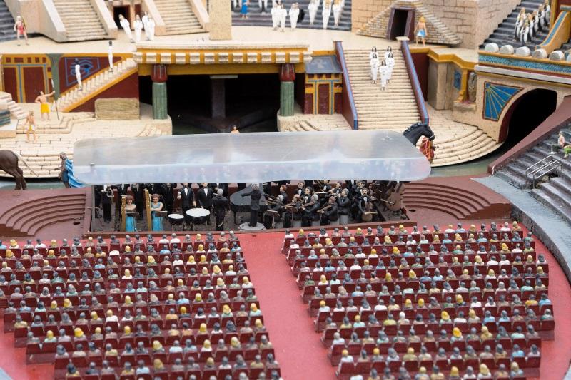 Italia in Miniatura - un particolare della platea dell'Arena di Verona