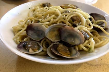 Spaghetti alle vongole in piatto