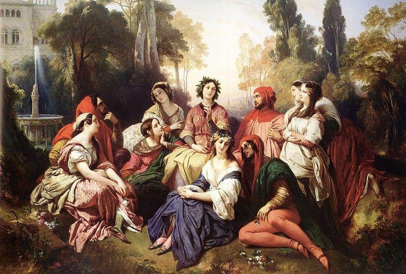 Boccaccio - una scena evocativa del Decamerone