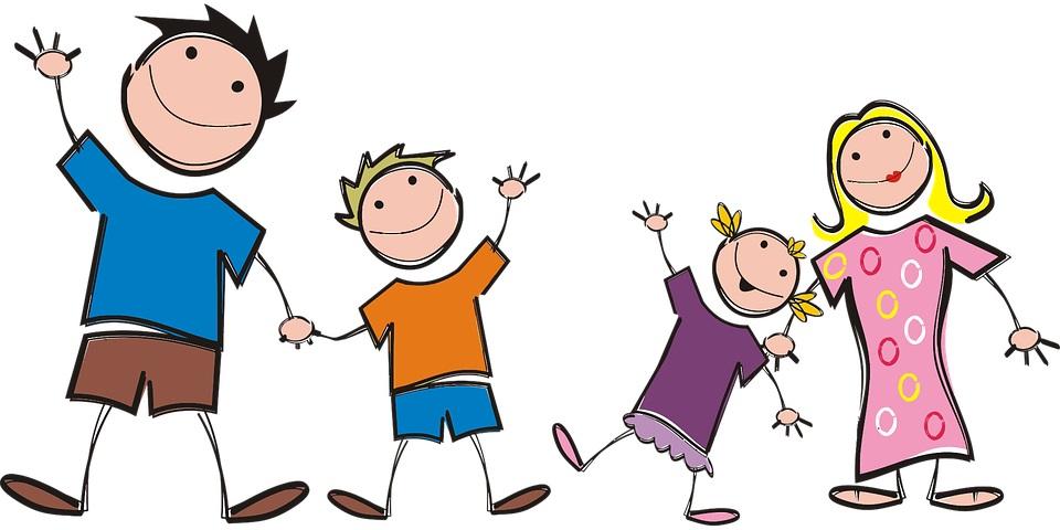 bambini e famiglia a fumetto