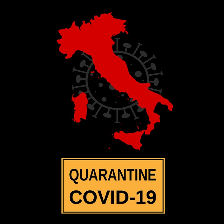 bandiere italia in quarantena
