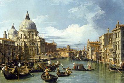 Venezia creò i lazzaretti - una dipinto del canaletto