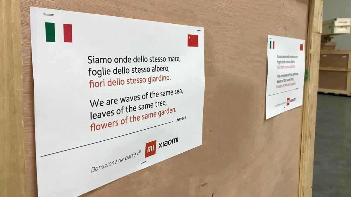 cina aiuta italia