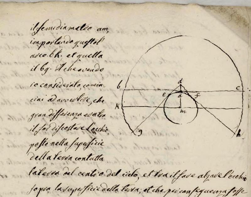 #iorestoacasa manoscritto antico con scritte e disegno astronomico