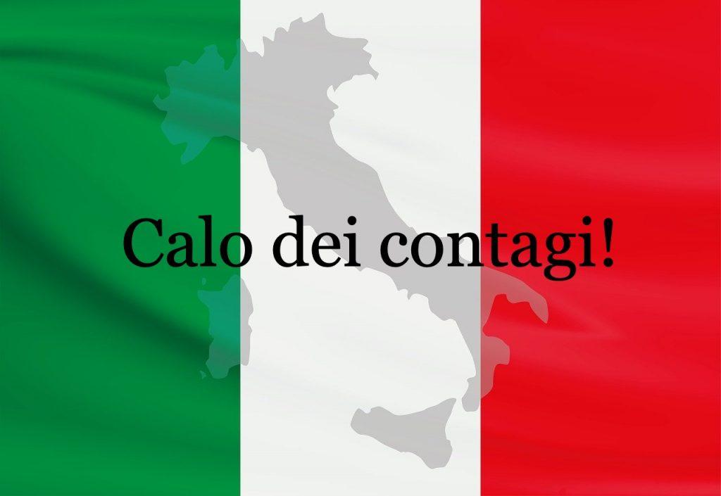 contagi ancora in calo italia