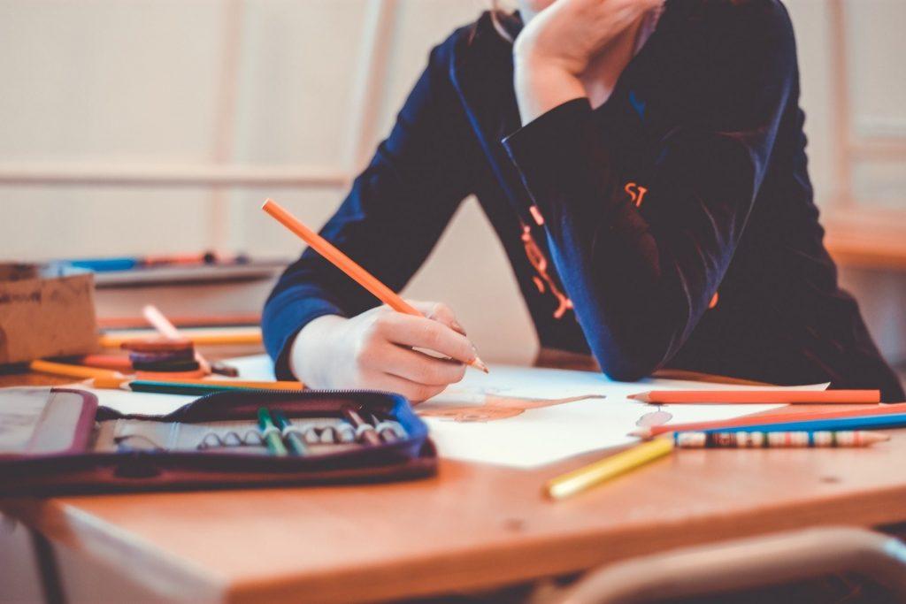 #schooldoesnotstop #lascuolanonsiferma- alunno impegnato con i compiti