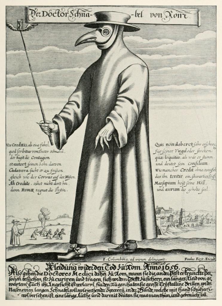 Venezia creò i lazzaretti - il medico del 1300 - vencie created lazarets