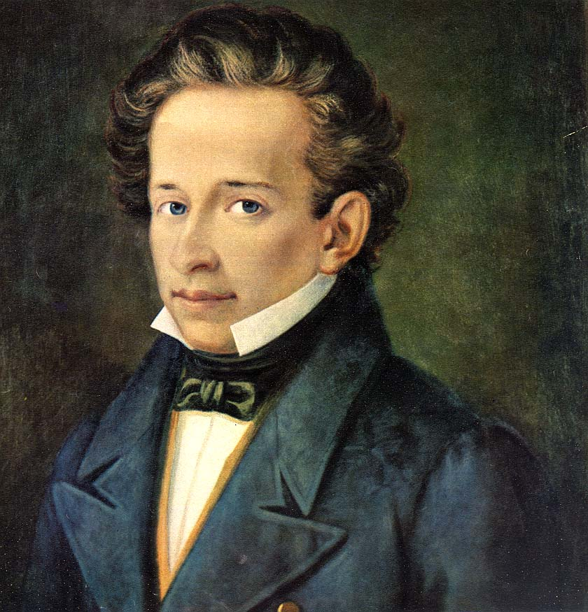 Ritratto di G. leopardi, opera del pittore A. Ferrazzi . Portrait of G. Leopardi, work of the painter Ferrazzi