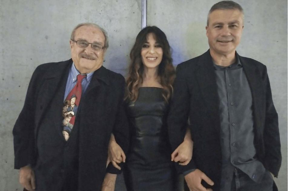 Silvio Governi con Sabrina Impacciatore e Giancarlo Governi per il docu-film