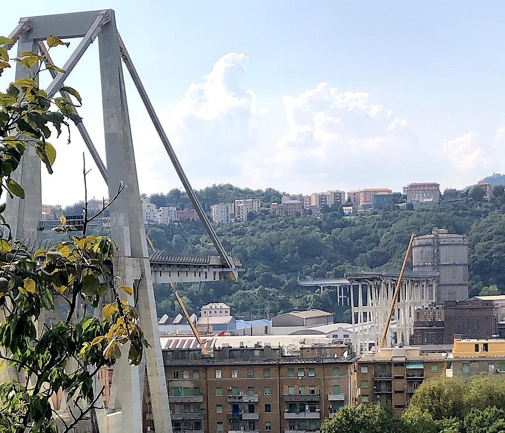 levante - ponte di Genova crollato