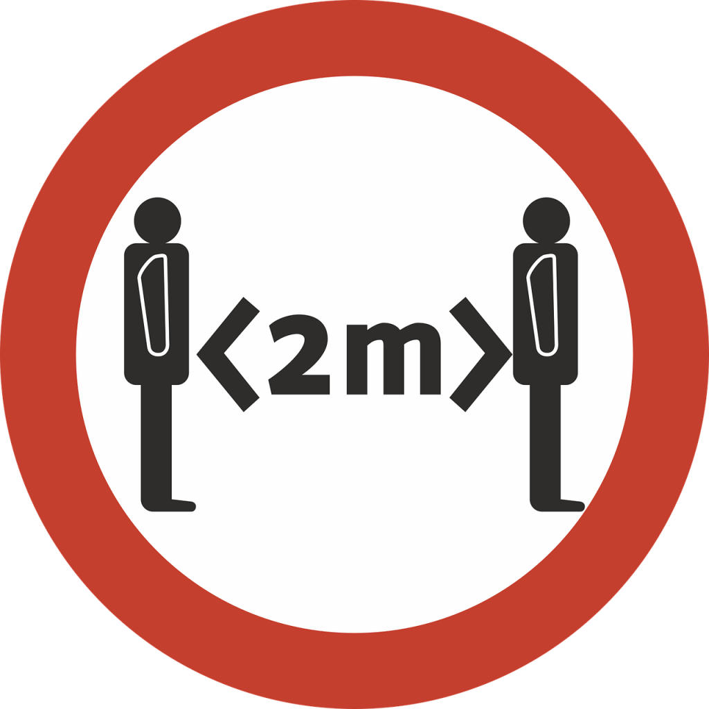 Amore a distanza - un segnale stradale che indica la distanza da tenere - long-distance love
