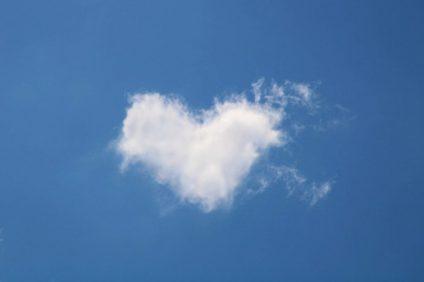 parole di speranza - nuvola a forma di cuore