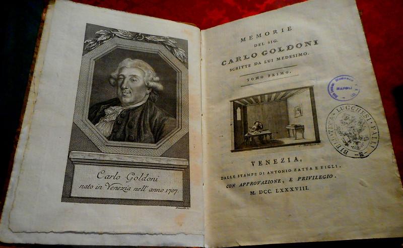 Libro di una rappresentazione di Carlo Goldoni Book of a representation by Carlo Goldoni