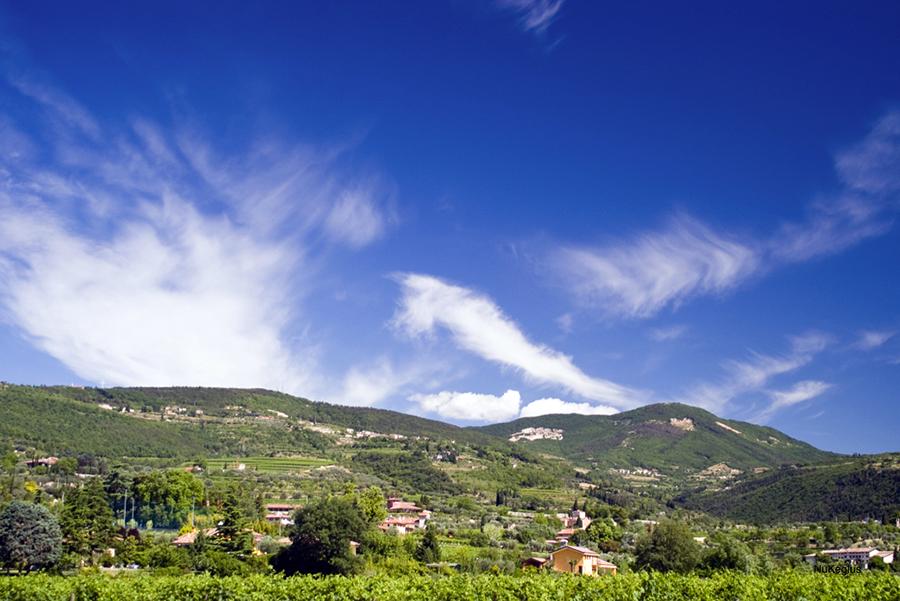 Un mosaico - panorama di Valpolicella - view of valpolicella