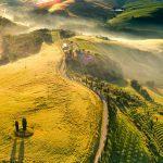 ritorno alla natura -panorama con colline