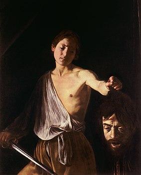 elogio della debolezza - Davide con la testa di Golia, Caravaggio, Roma