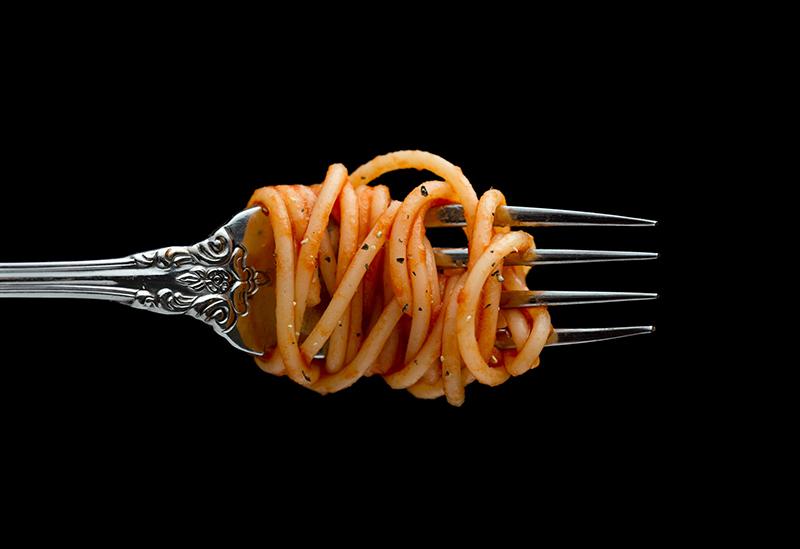 parliamo italiano - una forchetta con spaghetti