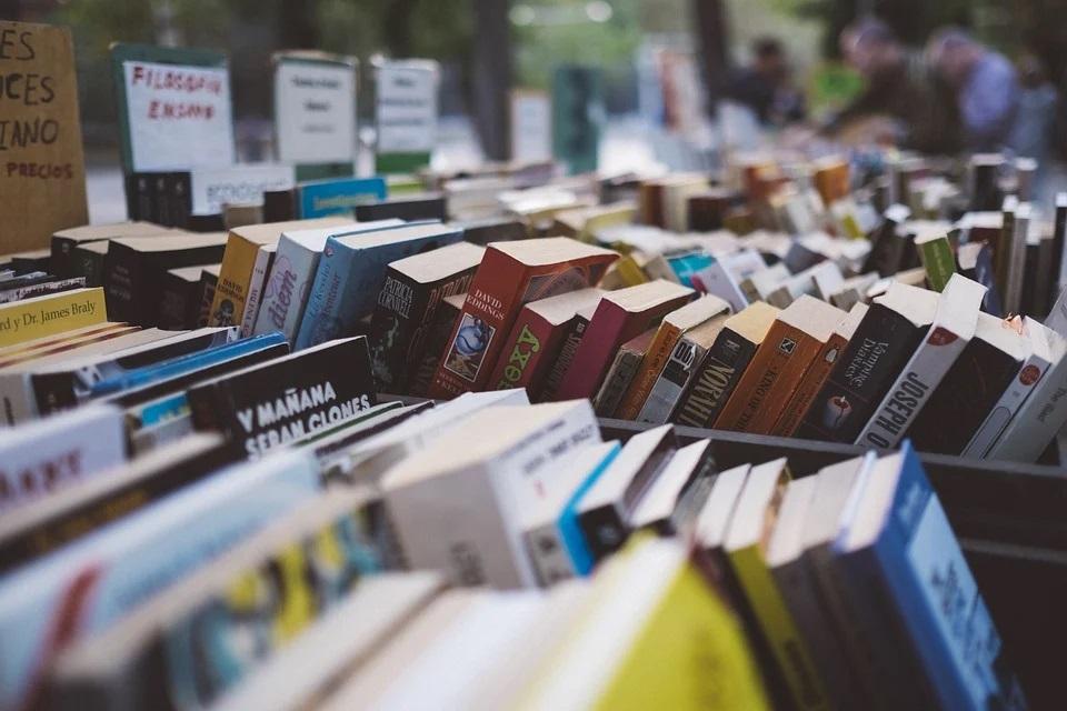 Il salone del libro di Torino presentava molte esposizioni di libri