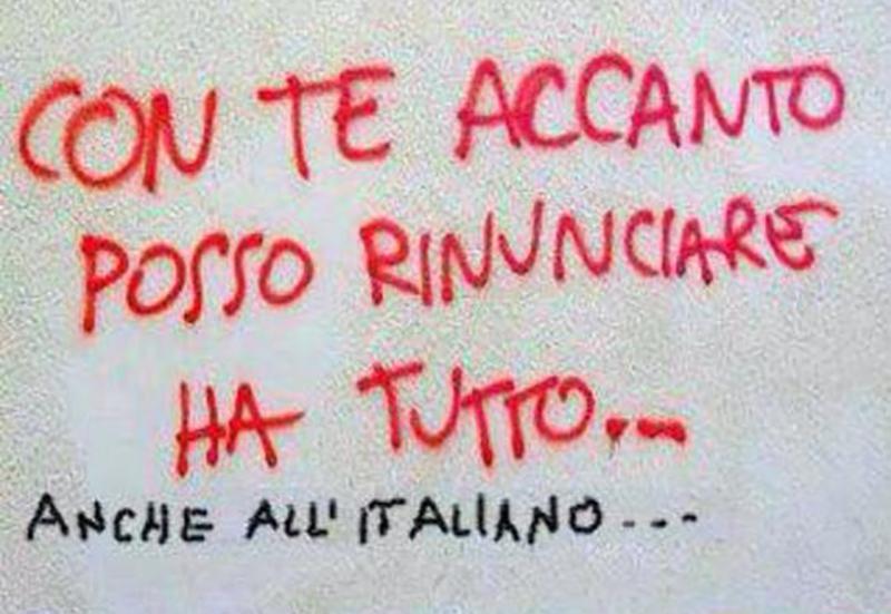 l'italiano - una scritta sul muro
