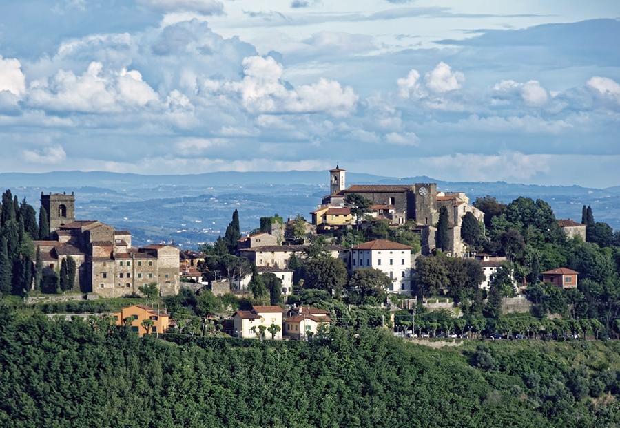 veduta di un borgo toscano - Tuscan village