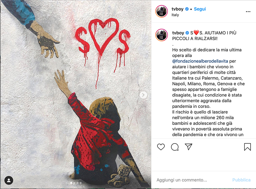Tvboy - post di instagram