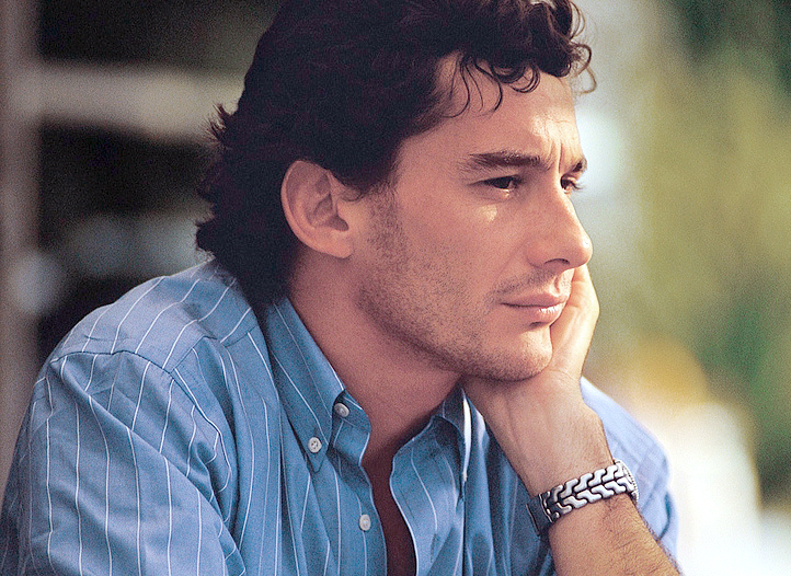 primo piano di Ayrton Senna - closeup