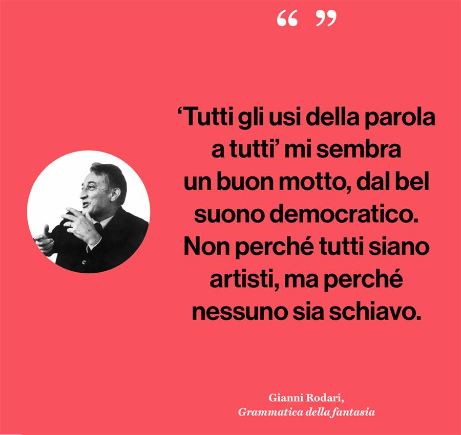 Munari - una massima di Gianni Rodari - quote