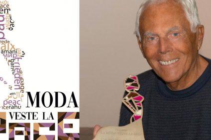 Il premio realizzato da Gerardo Sacco a Giorgio Armani