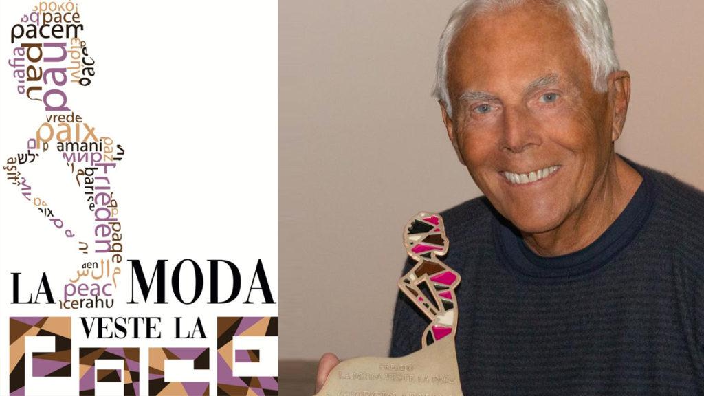 The award made by Gerardo Sacco to Giorgio Armani