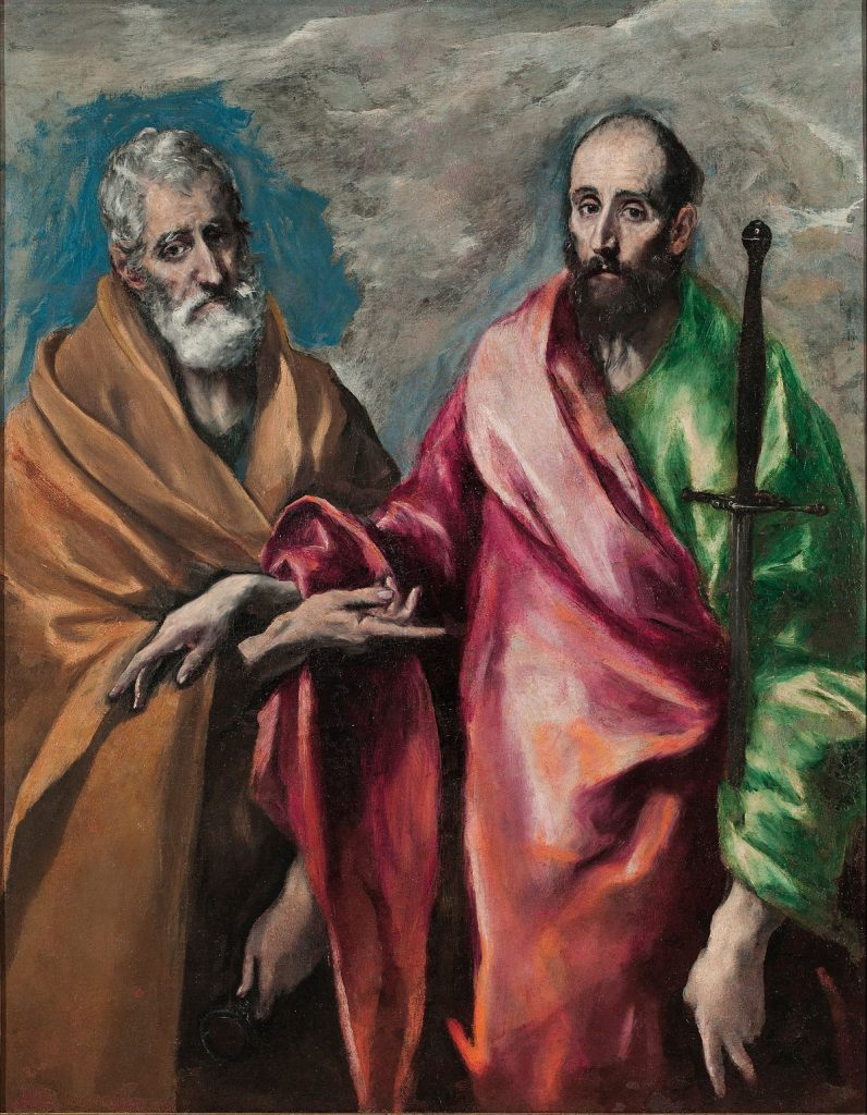 Santi pietro e paolo in un dipinto