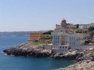 La veduta della scogliera di Santa Cesarea