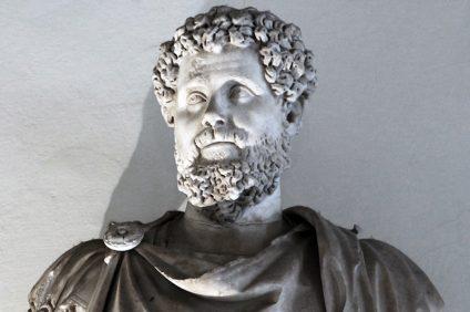 gli italiani non sono razzisti - busto in marmo di Settimio Severo, imperatore romano