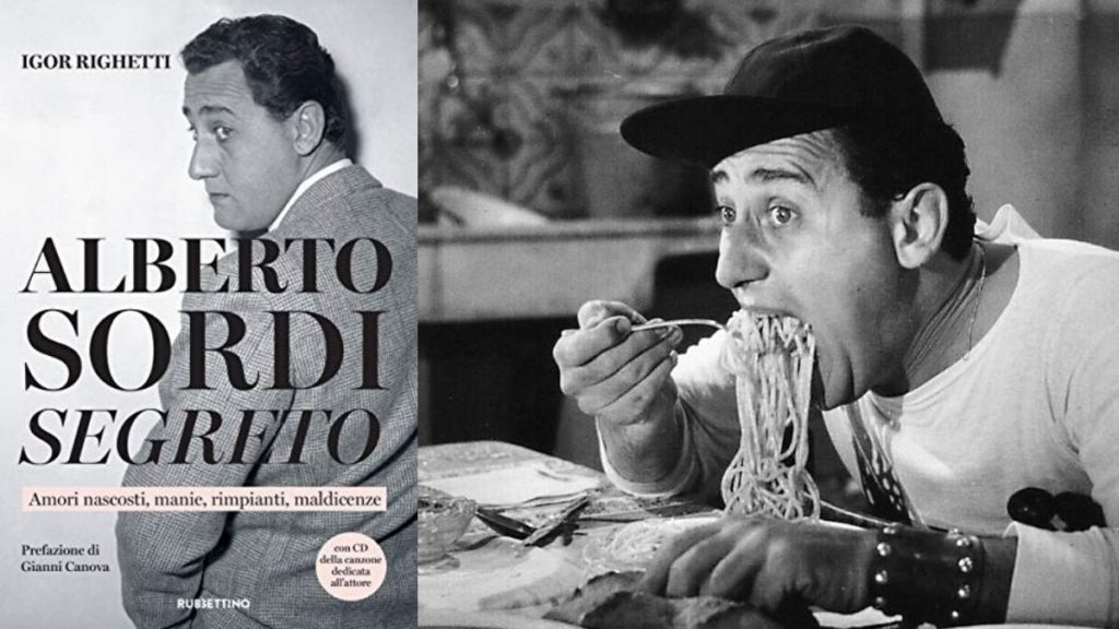 due foto in bianco e nero di alberto sordi - two black and white photos of Alberto Sordi