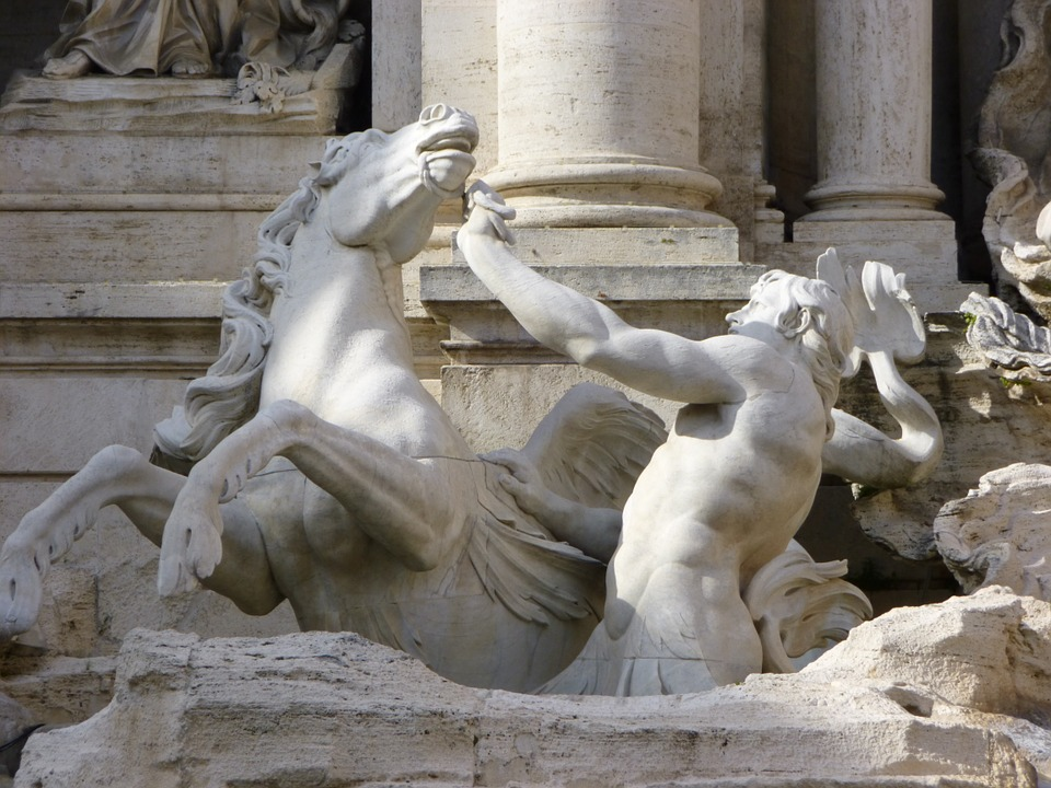 Un particolare della Fontana di Trevi - a detail of the fountain