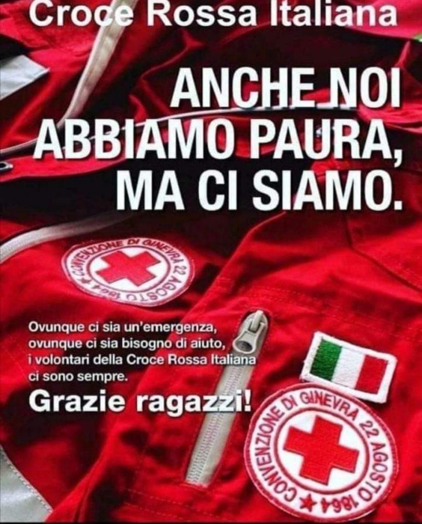 storie - locandina della croce rossa italiana - stories - poster of the Italian red cross