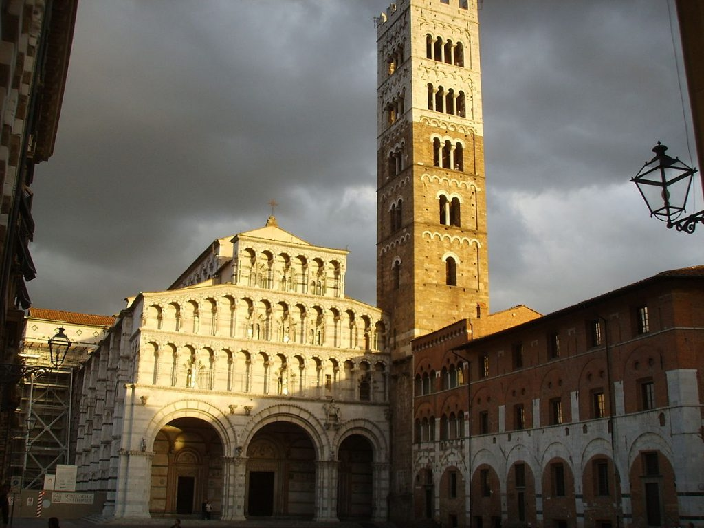 the cathedral of lucca which houses the holy face