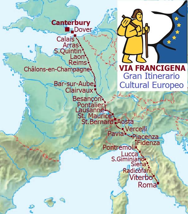 illustration of the via francigena