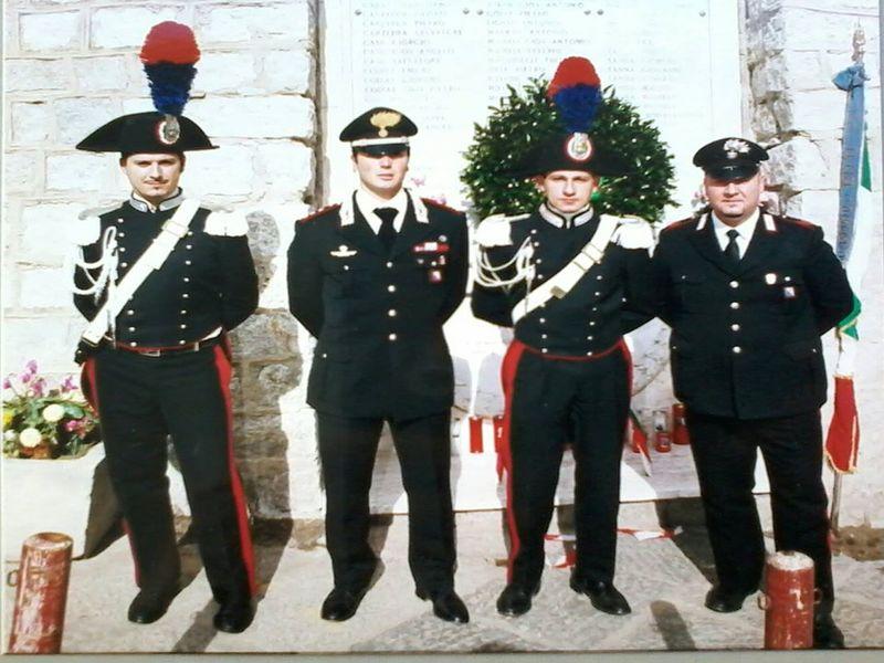 Carlo Carere in divisa da Carabiniere