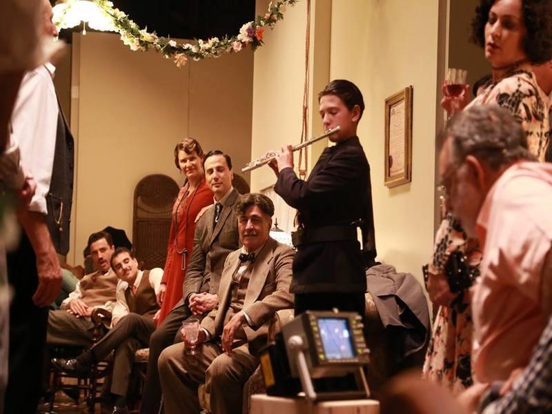 L'attore italiano mentre recita sul set di Francis Ford Coppola - The Italian actor while acting on the set of Francis Ford Coppola