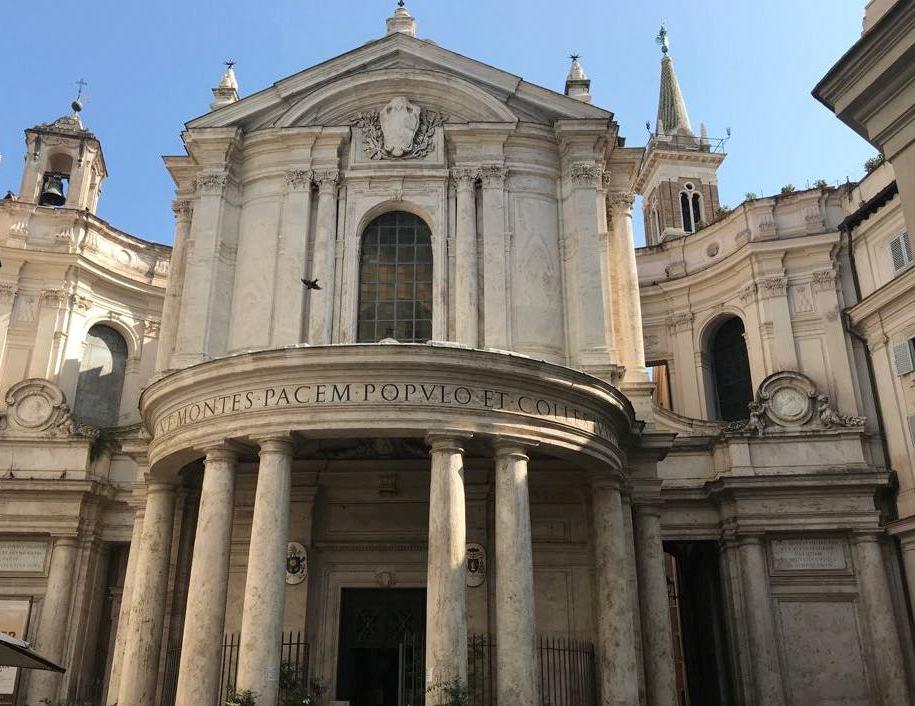 Chiesa di Santa Maria della Pace a Roma. Foto Roma Capitale Pagina Facebook