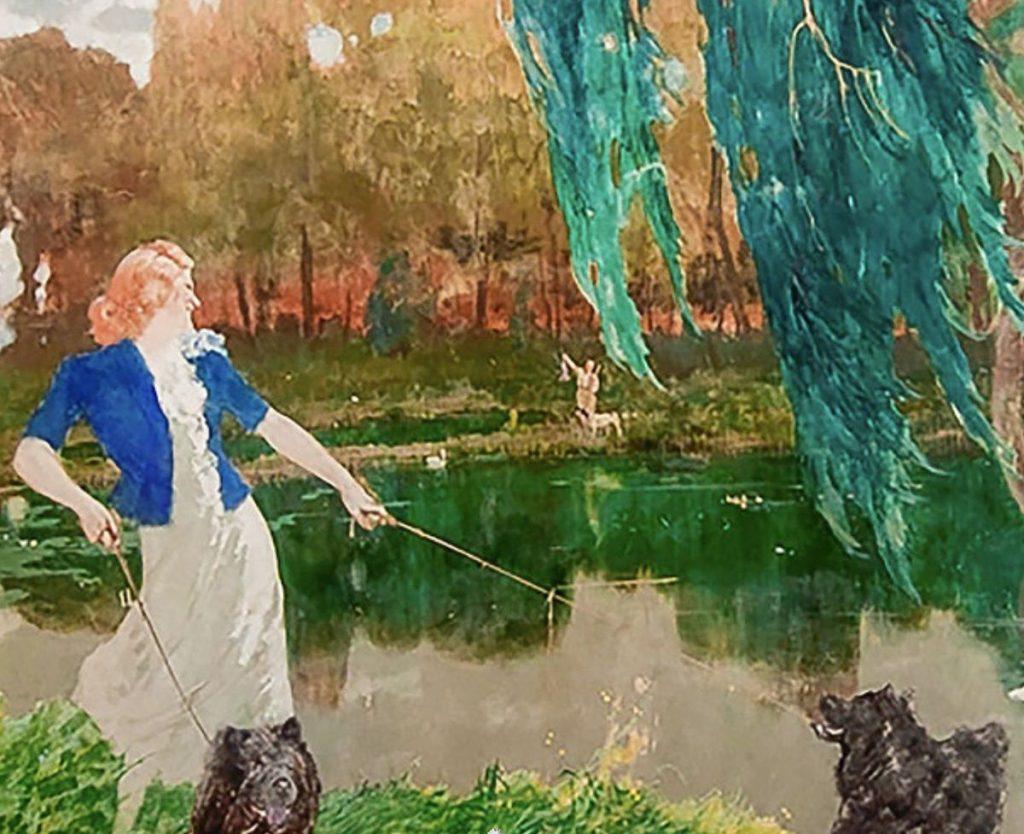 Il dipinto di Giancarlo Palanti painting
