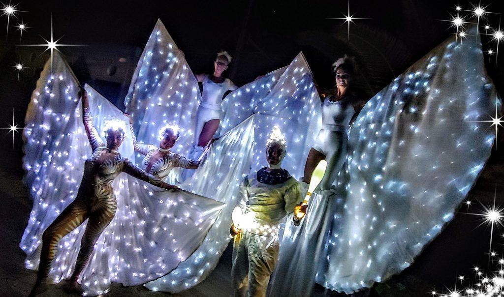 Le farfalle luminose a La Notte dei desideri del 2019