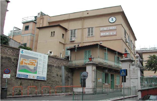 esterno dell'ospedale bambino gesù di roma