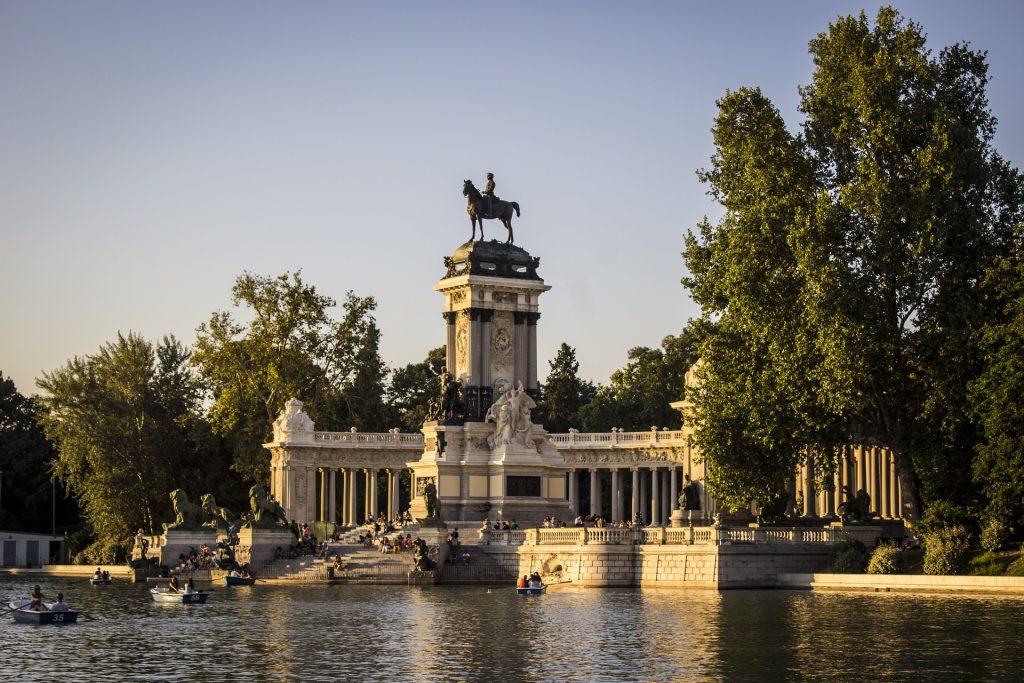 Parque del Retiro, a Madrid