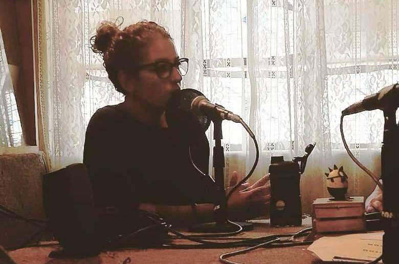 Rosanna Bonasia con microfono