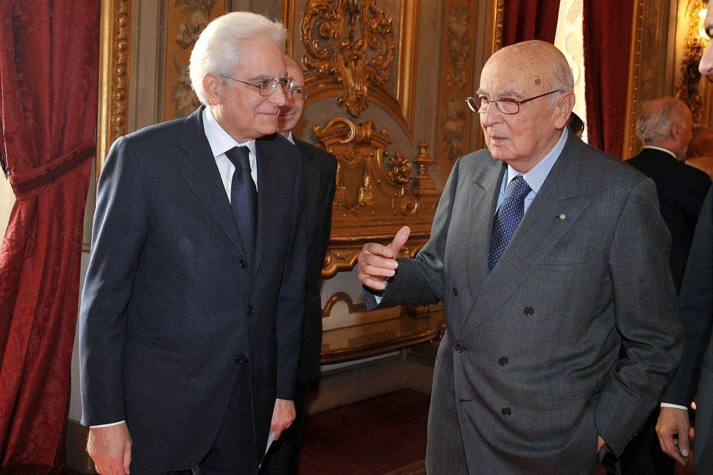 Sergio Mattarella e Giorgio Napolitano