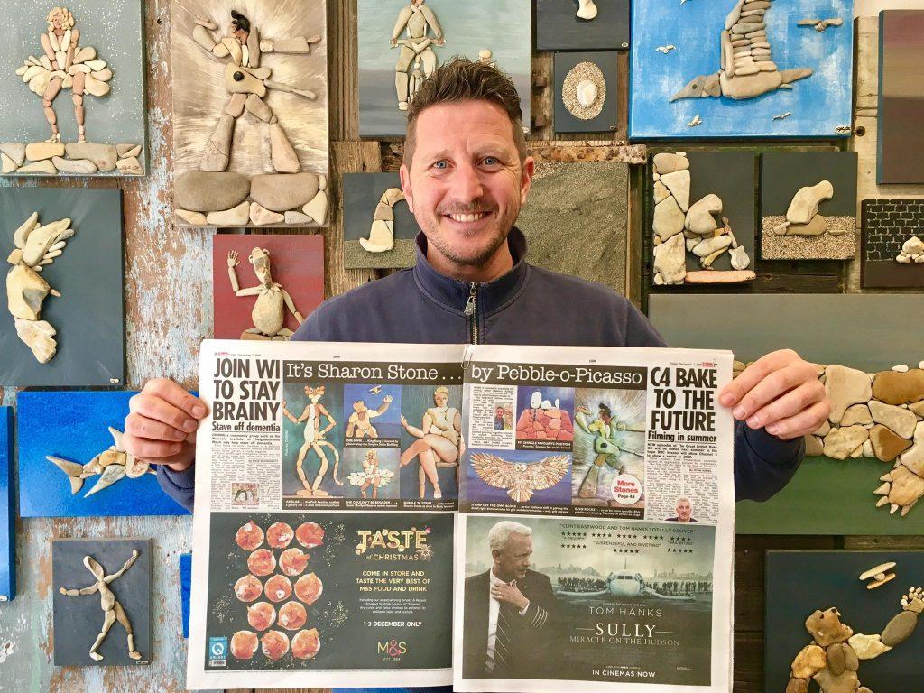 sassi d'autore - Stefano Furlani mostra l'articolo pubblicato da The Sun