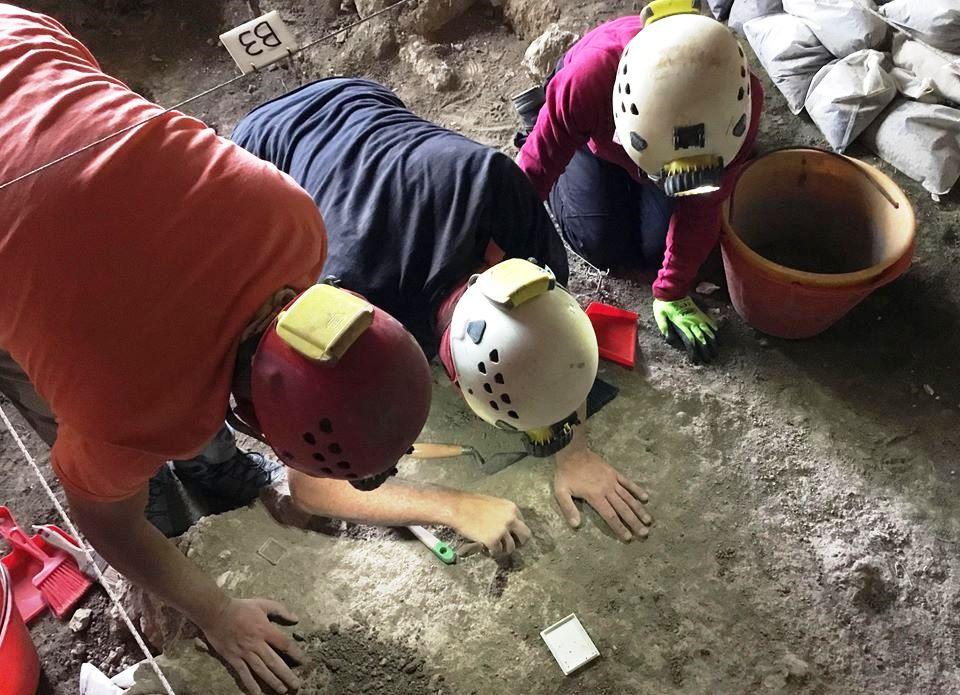 Le analisi sul terreno per trovare i resti umani