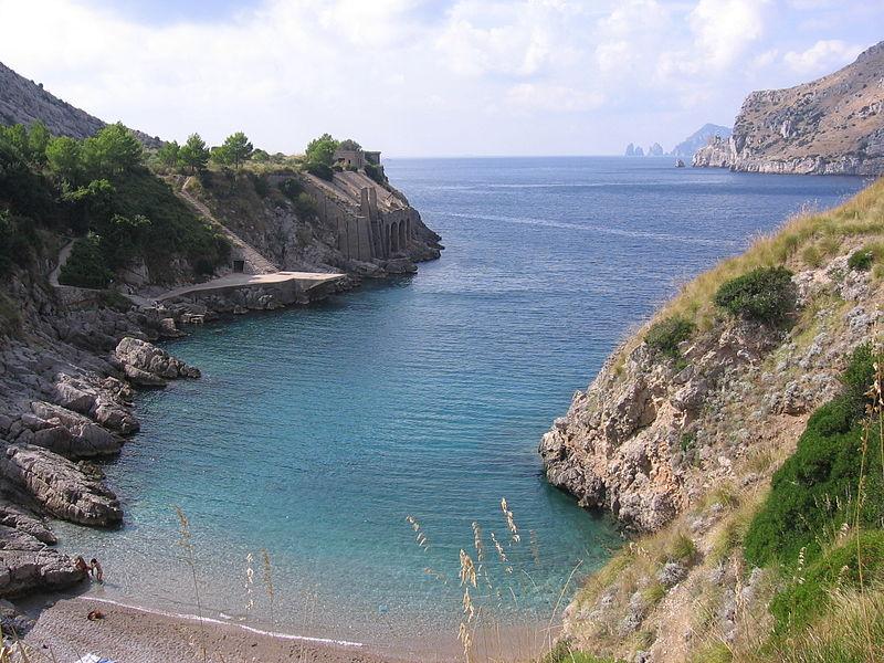 veduta della Baia di Ieranto - view of Ieranto bay