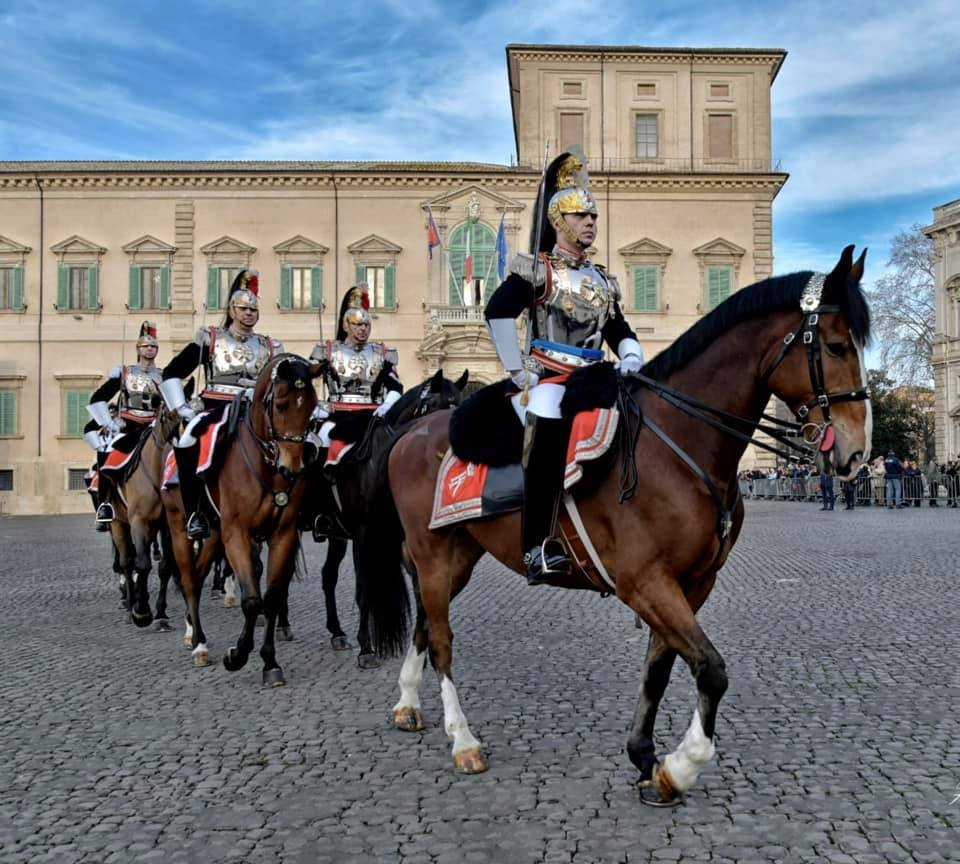 Carabinieri corps in full uniform